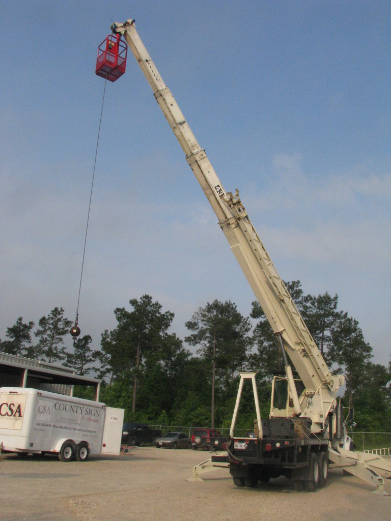 County Sign and Awning - Crane Rental SETX