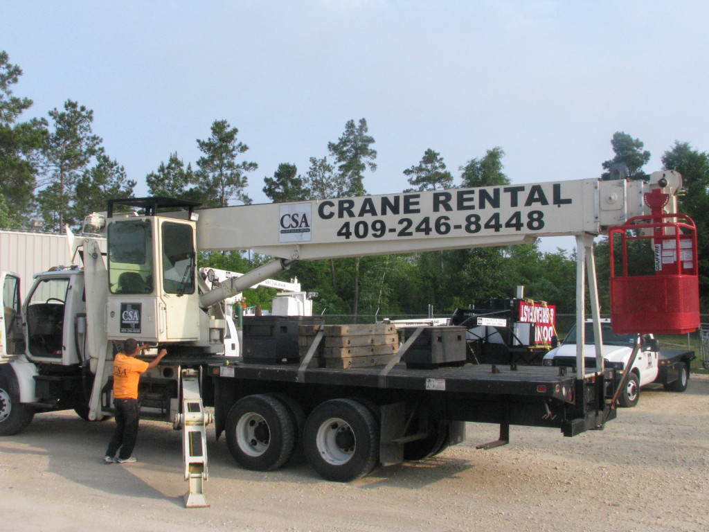 County Sign and Awning - SETX Crane Rental Company, crane rental Jasper Tx, crane rental Vidor, crane rental Lake Charles LA, SWLA crane rental