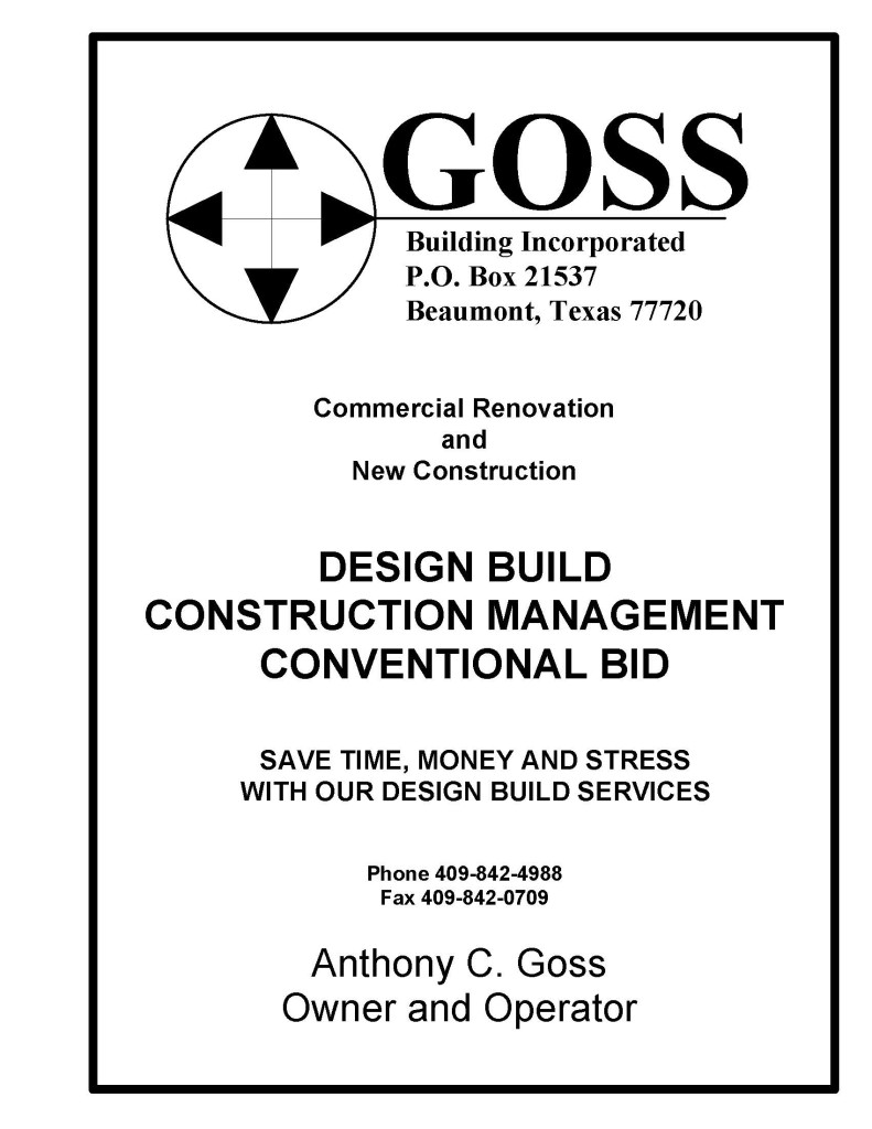 Design Build Contractor Southeast Texas