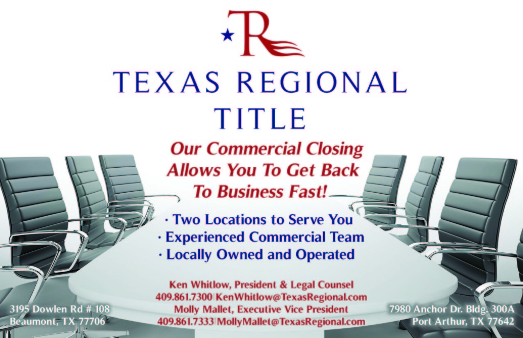 Texas Regional Title, Commercial Closings Beaumont Tx, real estate closing Beaumont TX, SETX title company, title company Golden Triangle TX