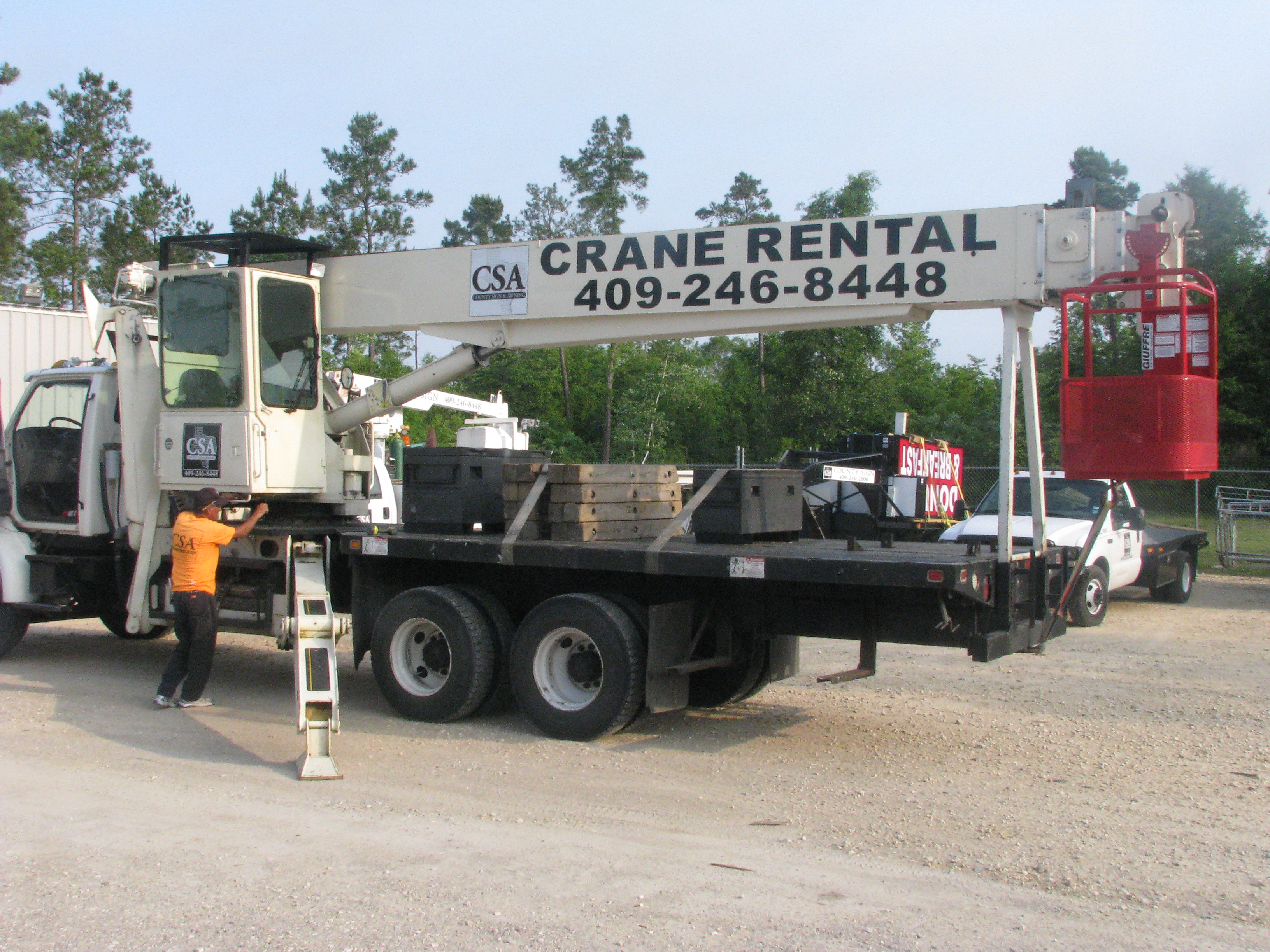 County Sign and Awning Port Arthur Crane Rental