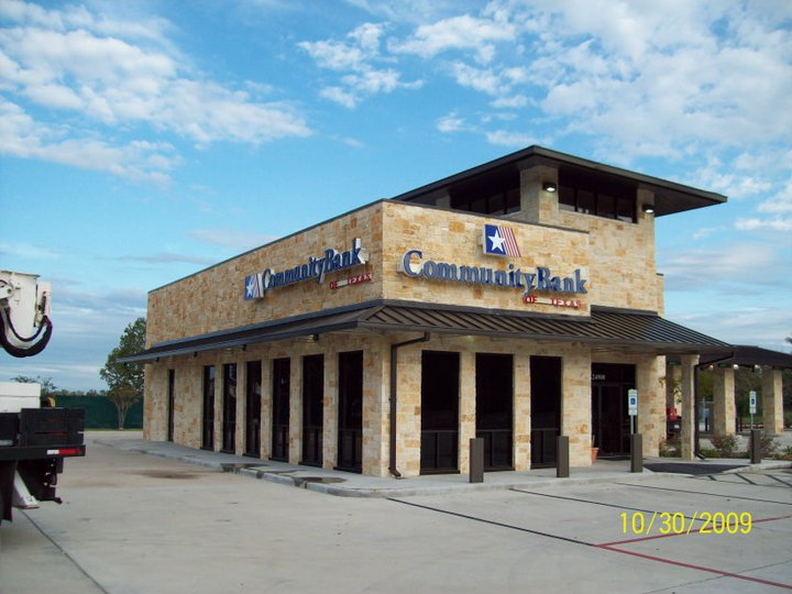 County Sign Community Bank Commercial Signs Beaumont Tx