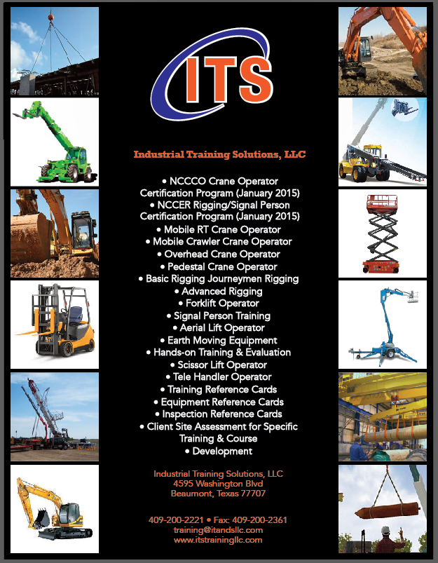 forklift training Southeast Texas, forklift training Beaumont Tx, industrial training Beaumont Tx, safety training Beaumont Tx, rigger training Beaumont TX, NCCCO training Beaumont TX, industrial training SWLA