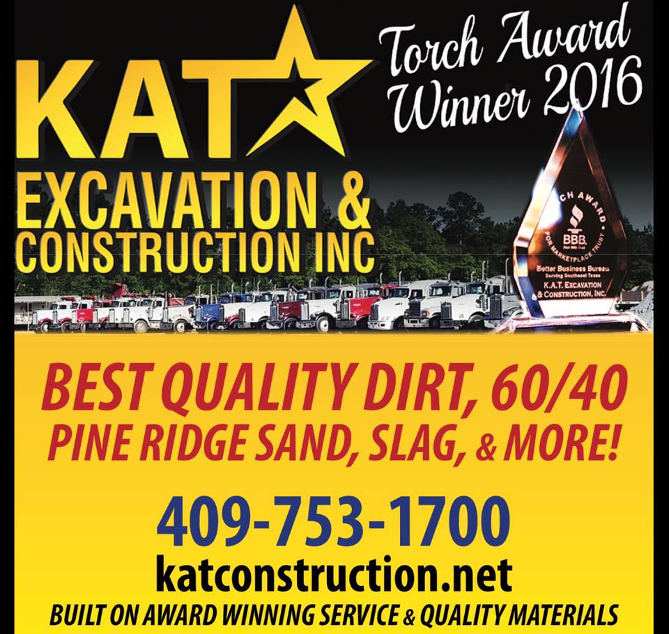 KAT Construction Pine Ridge Sand Southeast Texas