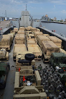Port of Beaumont Army transport