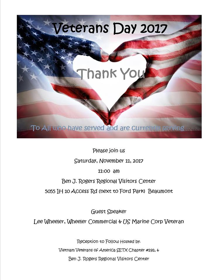 Veteran's Day Beaumont TX, Veteran's Day Event Beaumont TX, Veteran's Day Schedule Beaumont TX, Veteran's activities Beaumont TX, Veteran's Day Southeast Texas, SETX Veteran's Day, Veteran's Day Port Arthur, Veterean's Day Lumberton, Veteran's Day Sour Lake, SEO Beaumont TX, SETX SEO Marketing, Search Engine Optimization Beaumont TX
