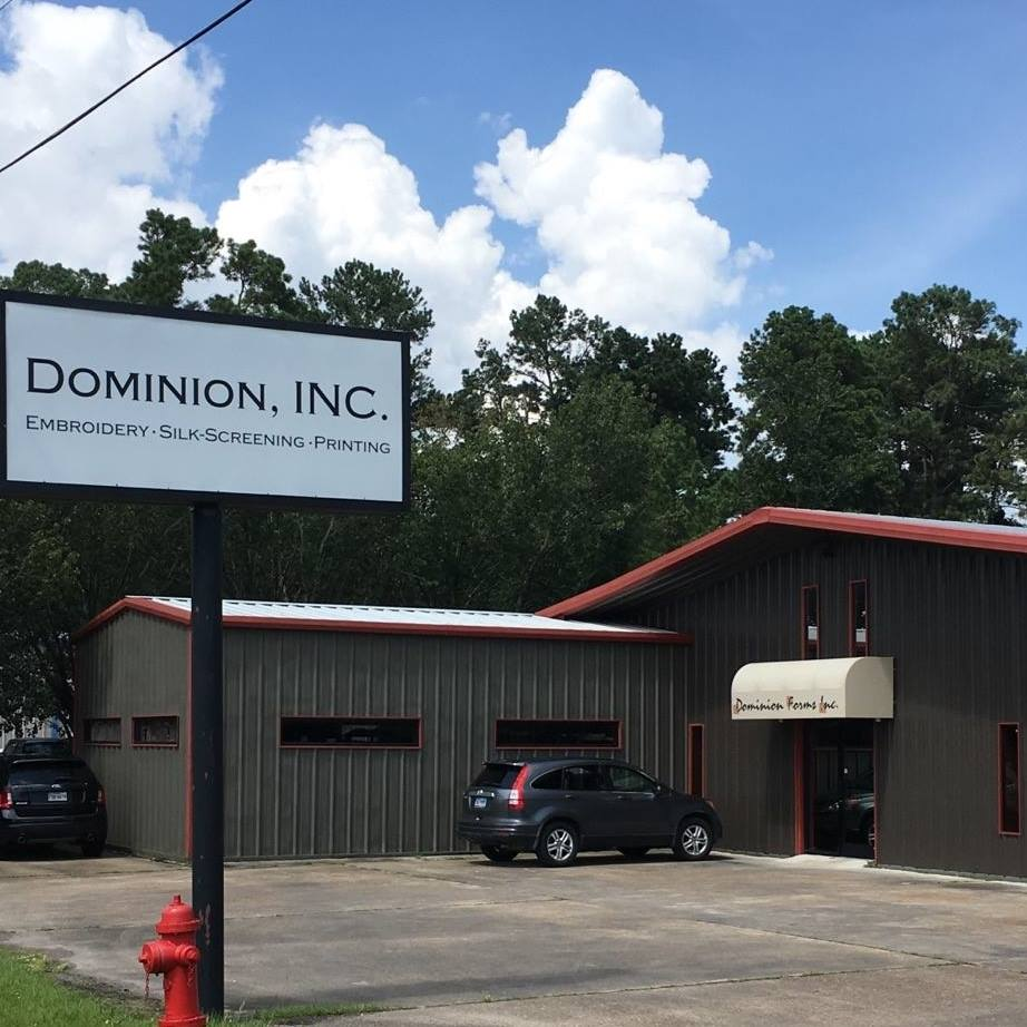 Dominion Forms, Dominion Printing, t-shirts Beaumont TX, logo caps Port Arthur, logo Yeti Cup Orange TX, Pop Socket SETX